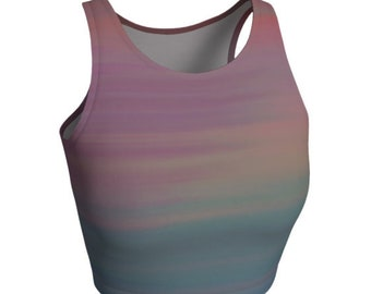 Soft Pastel RAINBOW CROP TOP For Women Festival Fashion Top Rave Crop Top Womens Yoga Top Sexy Tops for Women Club Outfit Festival Outfits