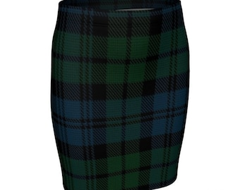 Tartan PLAID SKIRT Green Tartan Plaid Mini Skirt WOMENS Skirt Tight Skirts High Waisted Skirt for St Patrick Day Skirt Tartan Mini Skirt