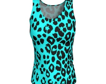 Cheetah TANK TOP Animal Print Tank Top WOMENS Cheetah Top Leopard Print Shirt Work-out Clothing Yoga Top Tank Top Gym Top Cycling Clothing