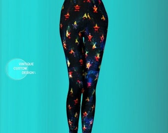 Stars and Stripes LEGGINGS for Women - Fourth of July - Independence Day - Leggings - Sexy Print Leggings - Womens Clothing - USA Leggings