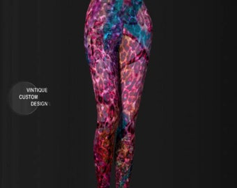 Rainbow Cheetah LEGGINGS Festival Leggings Womens Yoga Leggings YOGA PANTS Animal Print Leggings Women's Sexy Legging's Cheetah Animal Print