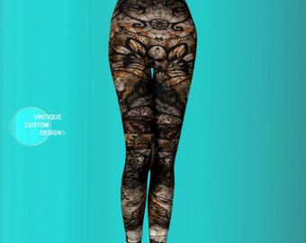 Cosplay Futuristic Clothing LEGGINGS Womens Sexy Leggings Sexy Print Leggings CYBER PUNK Leggings Steampunk Leggings for Women Punk Leggings