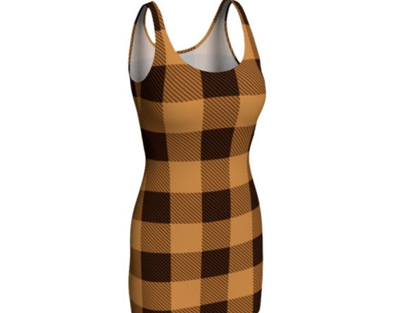 Plaid Dress for Women Flare Dress or Women's Body-Con Dress BUFFALO PLAID DRESS Fall Fashion Clothing Fall Dress 90's Vintage Fashion Dress