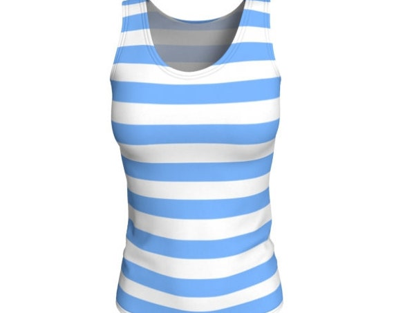 TANK TOP WOMENS Striped Tank Top Athletic Clothing for Women Designer Fashion Top Women's Preppy Clothing Work Out Top Striped Tank Top