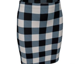 BUFFALO PLAID SKIRT Fall Fashion Skirt Plaid Skirt for Women Flare High Waisted Skirt or Slim Fitted Skirt Buffalo Check Plaid 90's Fashion