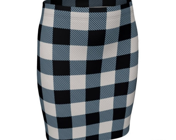 BUFFALO PLAID SKIRT Fall Fashion Skirt Plaid Skirt for Women Flare High Waisted Skirt or Slim Fitted Skirt Buffalo Check Plaid 90's Fashion