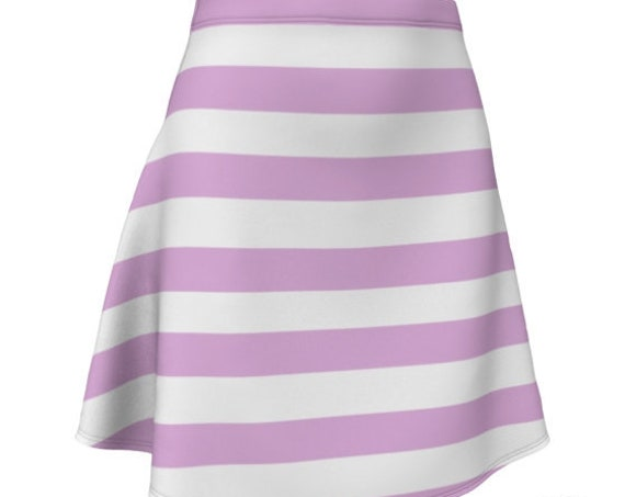 TENNIS SKIRT Women's Striped Designer Fashion Skirt Pink and White Striped in Fitted or Flare Styles Summer Clothing Beachwear Preppy Skirt