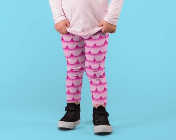 Mermaid Leggings for GIRLS Mermaid Leggings Pink Mermaid Leggings Baby Leggings Toddler Leggings Fish scale Leggings for Kids Girls Clothing