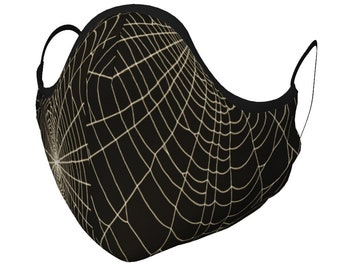 SPIDERWEB Face MASK Face Spider Web Cob Web Face Mask w/ PM 2.5 Filters Unisex Adult + Youth Sizes Protective Mask for Anyone Kids Mask