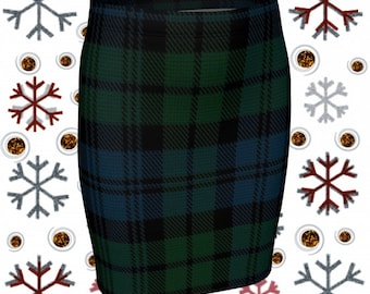 Tartan PLAID SKIRT Green Tartan Plaid Mini Skirt WOMENS Skirt Tight Skirts High Waisted Skirt for St Patrick Day Skirt Tartan Mini Skirt