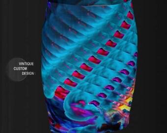 MINI SKIRT Rainbow Print Skit WOMENS Clothing Rave Clothing Festival Fashion Clothing Festival Clothing Burning Man Clothing Festival Skirt