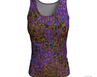 Running TANK TOP Womens Cheetah Print Tank Top Crossfit Shirt for Women Yoga Top Fitness Clothing Workout Cheetah Print Performance Tank Top