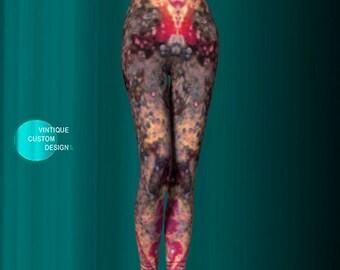 LEGGINGS YOGA PANTS Womens Sexy Print Leggings Yoga Leggings for Women Abstract Art Leggings Paint Splatter Leggings Painted Leggings Womens