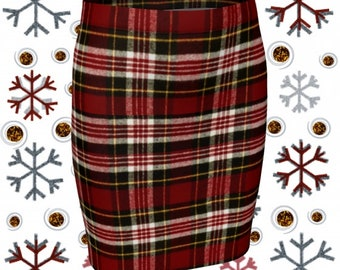 TARTAN PLAID SKIRT for Women Designer Skirt Womens Clothing Mini Skirt Plaid Skirt Sexy Mini Skirt Sexy Printed Skirts Flare or Fitted Skirt