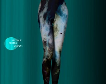 Milky Way GALAXY Leggings Printed Leggings Art Leggings Yoga PANTS Fitness Leggings Galaxy Art Legging Designer LEGGINGS Womens Leggings