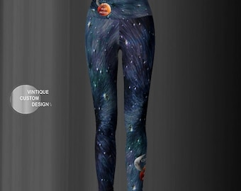 Game of Thrones GALAXY ART LEGGINGS Women's Galaxy Yoga Leggings Purple Galaxy Star Printed Leggings Glitter Galaxy Pants Womens Clothing