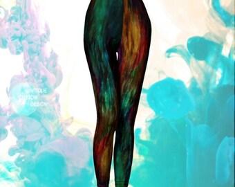 Rainbow Art Leggings FESTIVAL LEGGINGS Womens Galaxy Leggings Festival Leggings Print Leggings Art Leggings Sexy Print Leggings