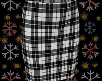 Black and White TARTAN PLAID SKIRT Womens Clothing Plaid Mini Skirt for Women Fitted Skirt or Flare Skirt Designer Skirt Sexy Mini Skirt