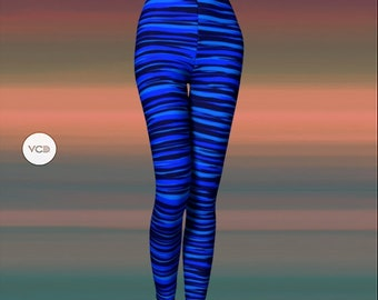 BLUE LEGGINGS for Women Camouflage Printed Leggings Yoga Leggings Yoga Pants Valentines Day Leggings Fashion Leggings