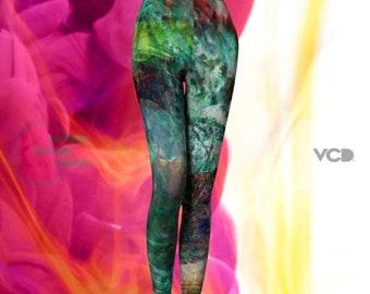 LEGGINGS Womens YOGA PANTS - Tribal Leggings - Sexy Print Leggings - Art Leggings - Painted Leggings - Hippie Clothing - Coachella Leggings