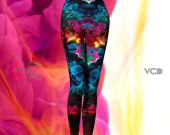 Festival Leggings Rave Leggings Burning Man Clothing Womens Festival Leggings Yoga Pants Yoga Leggings SEXY PRINT LEGGINGS Festival Outfit