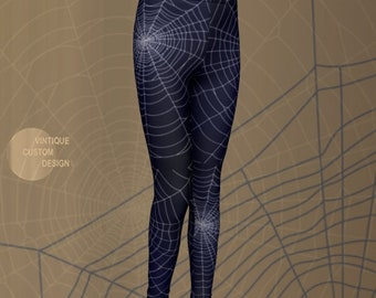 Spooky Fun and Cute HALLOWEEN Leggings for Boys and Girls - Spiderweb Leggings - Cobweb Leggings - Halloween Costumes - Tights - Kids - Baby
