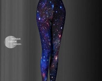 Rainbow Galaxy LEGGINGS Womens Yoga Leggings Yoga Pants Sparkly Leggings For Women Cosmic Leggings Space Leggings Blackmilk Rainbow Leggings
