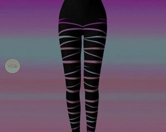 LEGGINGS Womens Designer Fashion Leggings YOGA PANTS Yoga Leggings for Women Dance Tights Rave Clothing Burning Man Leggings Spinning Pants