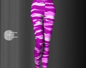 Pink Camouflage Leggings for Women CAMOUFLAGE LEGGINGS WOMENS Army Leggings Printed Leggings Yoga Leggings Camouflage Pants Camo Yoga Pants