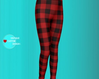 Red BUFFALO Plaid Leggings MATCHING Mommy and Me LEGGINGS Girls Leggings Toddler Leggings Baby Leggings Buffalo Check Valentine's Day Gift