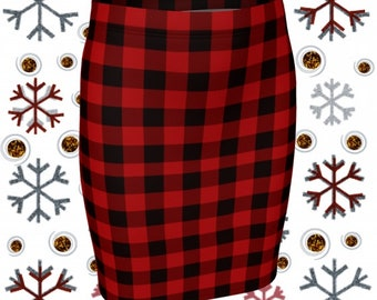 BUFFALO PLAID SKIRT High Waisted Skirts for Women Red Plaid Skirt Tight Skirts Red and Black Buffalo Check Plaid Mini Skirt Womens Skirts