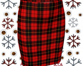 RED Tartan PLAID Mini SKIRT Red Plaid Skirt Red Plaid Mini Skirt Womens Clothing Sexy Mini Skirt Sexy Print Plaid Skirts for Women Flare