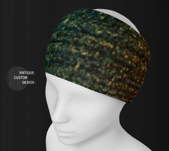 HAIRBAND Designer HEADBAND Womens Hair Accessory Scarf Fashion Headband or  Scarf Glitter Gold Green Christmas-gifts-for-women Gifts-for-her f496423b653