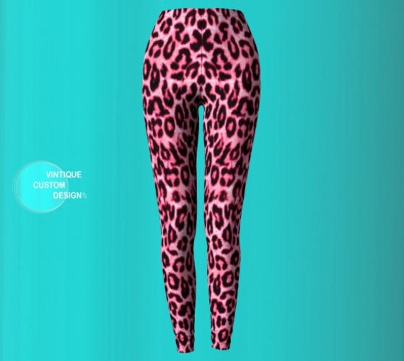 Pink Cheetah Print Leggings For Women Animal Print Pink Cheetah Leggings - Sexy Yoga Leggings Womens Sexy Leggings Animal Print Leggings