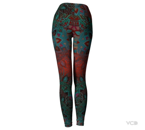 Leggings Lotus Geometry LEGGINGS Womens Leggings PANTS Leggings YOGA Print Clothing Sexy Festival Leggings Sexy Sacred Flower Burning Man qnW7O4qw