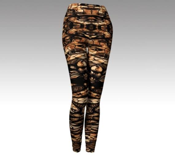 Leggings Pants Cosplay Punk Clothing Cyber Leggings Leggings Print WOMENS Cosplay Futuristic Bondage Leggings LEGGINGS Tattoo Sexy Steampunk vwaqWAS
