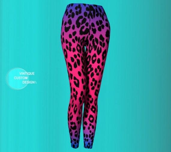CHEETAH LEGGINGS Women's Animal Print Yoga Leggings Womens Yoga Pants CHEETAH Print Leggings Cat Leggings Rave Leggings Festival Clothing