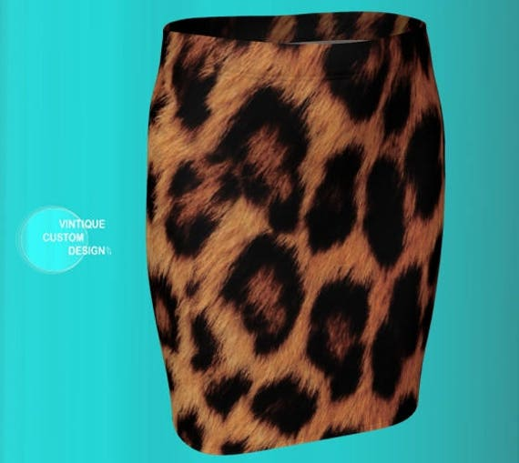 CHEETAH SKIRT WOMENS Cheetah Print Skirt Animal Print Skirt for Women Fitted Skirt Designer Fashion Printed Skirt Mini Skirt Pencil Skirt