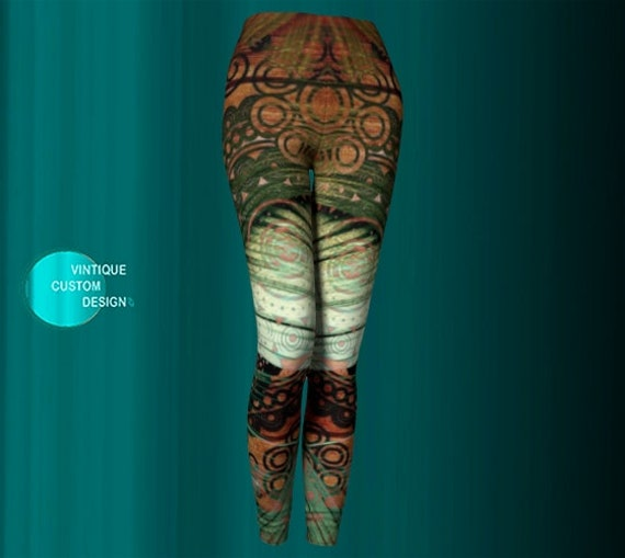 Tribal Art YOGA PANTS WOMENS Printed Art Leggings Tribal Pattern Leggings Hippie clothing Egyptian Bohemian Boho Yoga Leggings Tribal Tights