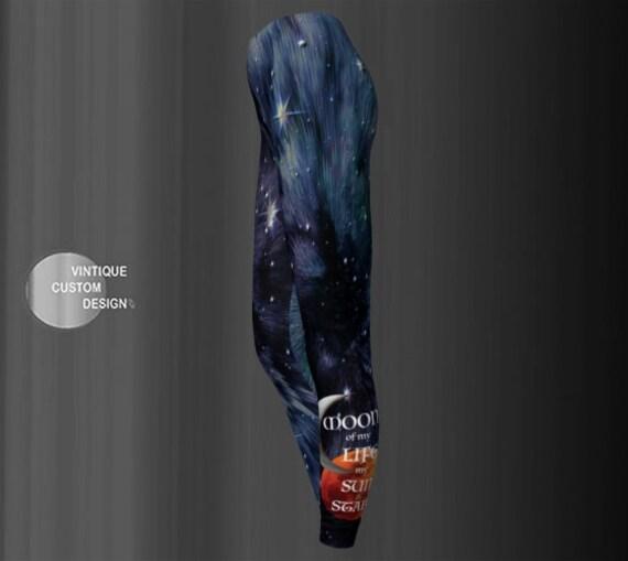 Designer LEGGINGS Yoga Pants WOMENS Game of Thrones Inspired Printed Leggings Moon of my Life  My Sun and Stars Khaleesi Dragon Leggings