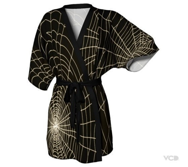 Spiderweb KIMONO ROBE Womens HALLOWEEN Printed Kimono Robe  570e99f58