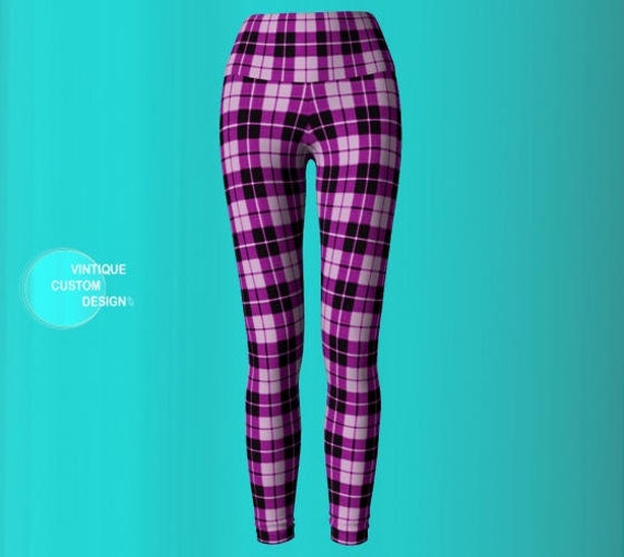 Sexy Women Print PANTS Plaid Womens Clothing Yoga Sexy Purple for Leggings Leggings YOGA Sexy Tartan Pants PLAID Womens Leggings Yn7FCx