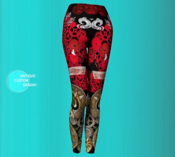 Sexy Sexy Futuristic Leggings Womens Yoga Steam Punk Clothing Leggings Leggings Print WOMENS for Pants Women Cyberpunk Steampunk Leggings PS6SzqH