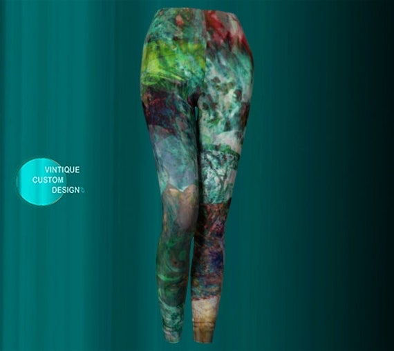 Leggings Painted Leggings Tribal Art YOGA Print PANTS LEGGINGS Clothing Hippie Leggings Womens Coachella Sexy Leggings Leggings 0qxvPgPw