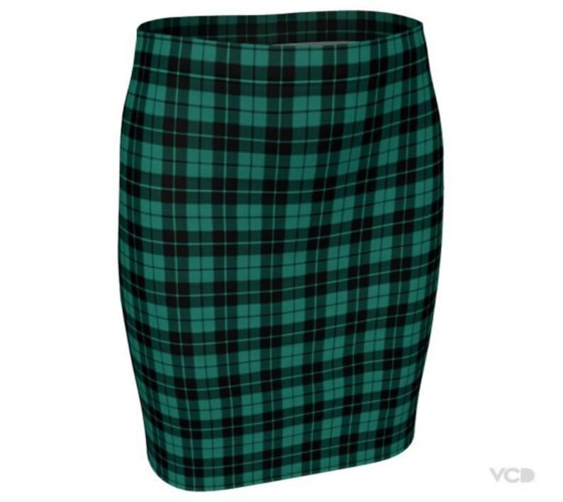 fb6ebbbc7 GREEN Tartan PLAID SKIRT Womens Plaid Skirts Tartan Plaid | Etsy