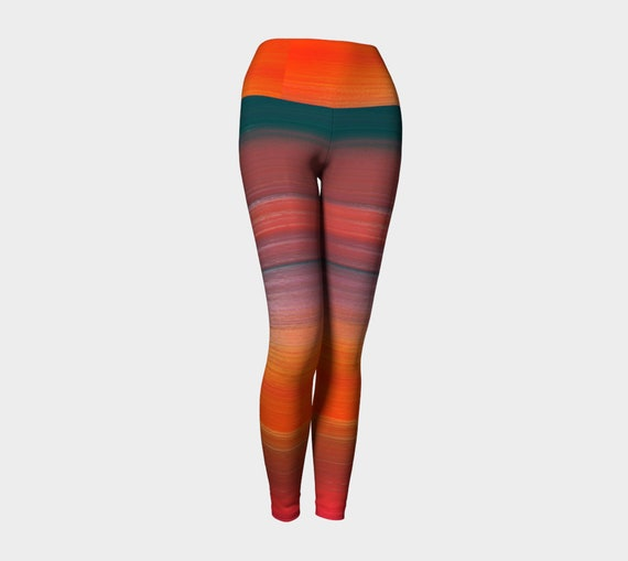 LEGGINGS Tribal Ombre Printed Womens Leggings Yoga Painted Clothing Clothing PANTS Leggings Rainbow YOGA Hippie Bright Rave Festival Rainbow w1qXvO0
