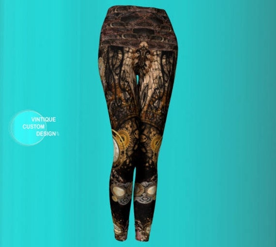 Leggings STEAMPUNK Pants Clothing LEGGINGS Steampunk YOGA Festival Punk Leggings Sexy Leggings Leggings Print Cyberpunk Cyberpunk Womens vdqBn1W