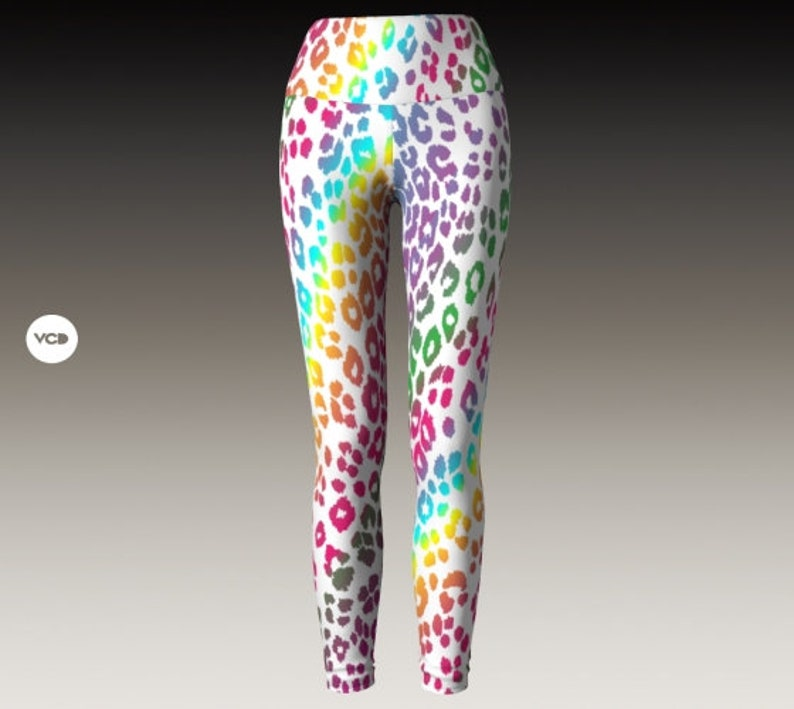 Leopard YOGA LEGGINGS Cheetah Print Leggings for WOMEN Yoga image 0