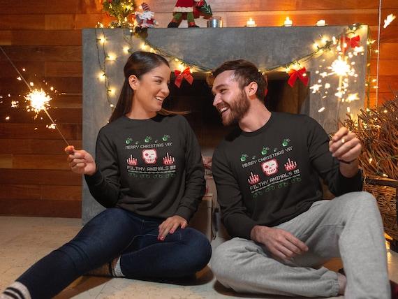 CHRISTMAS Sweater UNISEX Sweatshirt for Men or Women Crew Sweatshirt Get Lit Christmas Light Christmas Sweater Funny Christmas Gift for Him