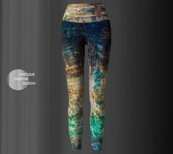 Yoga LEGGINGS Womens GALAXY Leggings Printed Leggings Art Leggings Yoga Pants Designer Leggings Cosmic GLITTER Print Leggings Crazy Leggings